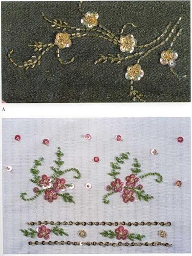 Вышивка на ткани простым